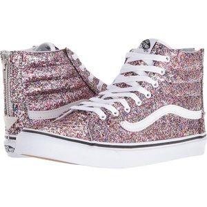 Vans Sk8-Hi Chunky Pink Glitter Shoes